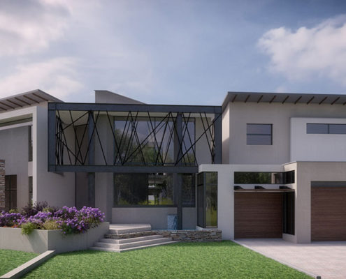 SL Architects - Khoza Residence front view