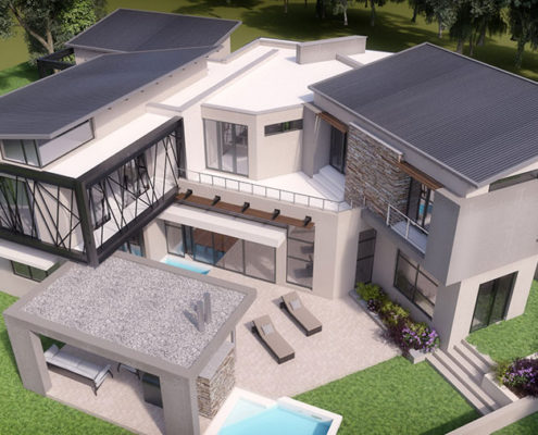 SL Architects - Khoza Residence arial view