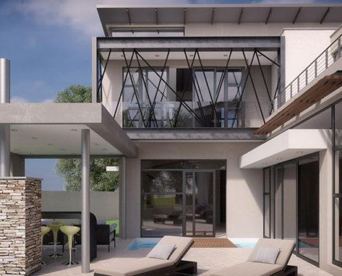 SL Architects - Khoza Residence entertainment area