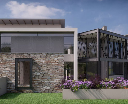 SL Architects - Khoza Residence side view