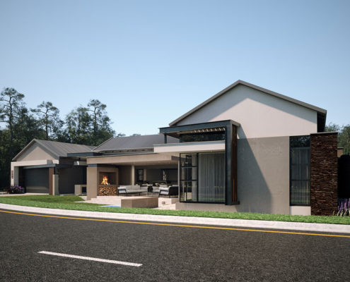Hill Residence Street view - designed by SL Architects Pretoria