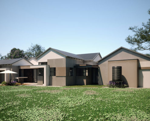 Hill Residence rear view - designed by SL Architects Pretoria