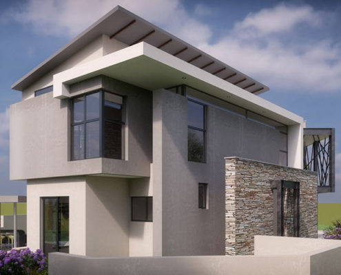 SL Architects - Khoza Residence 3D angled view