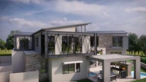 SL Architects - Khoza Residence elevated side view