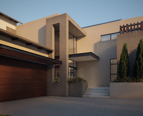 SL Architects - Boshoff Residence Entrance View