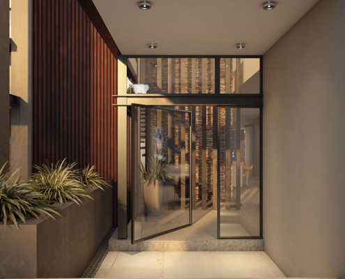 SL Architects - Boshoff Residence Entrance Closeup