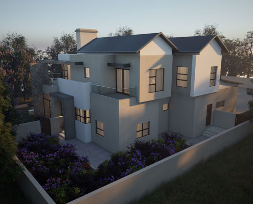 SL Architects - Boshoff Residence 3D arial View